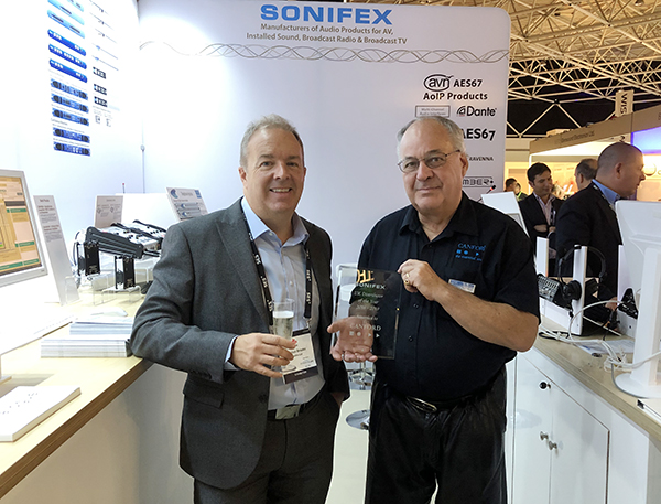 Sonifex Distributor Awards 2019