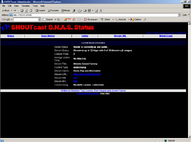 Icecast/Shoutcast Setup Window 09