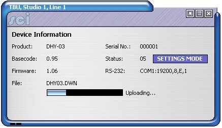 DHY-03  Upload Firmware
