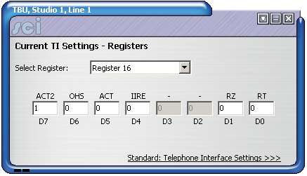 DHY-03 TI Registers
